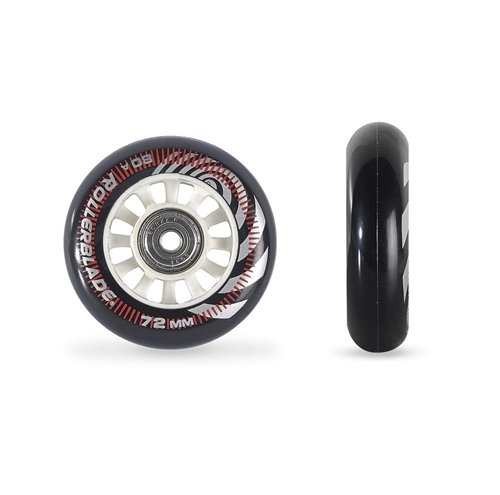 Rollerblade ABEC 5 Skate Bearings Complete Wheel Kit, 72mm/80A, Clear (Abec 5 Replacement Wheel)