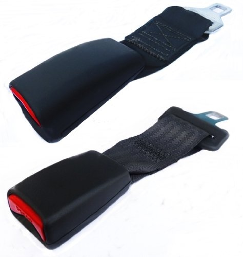 (Variety 2 Pack) Universal Seatbelt / Seat Belt Extensions, Types: A and B (Fits 97% of Vehicles)