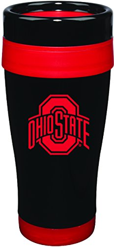 NCAA Ohio State Buckeyes 16 oz Stainless Formula 7 Tumbler with Team Color Accent - Ncaa Tumbler