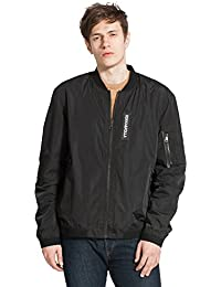 Men's Classic Lightweight Windproof Casual Flight Bomber Jacket Outwear