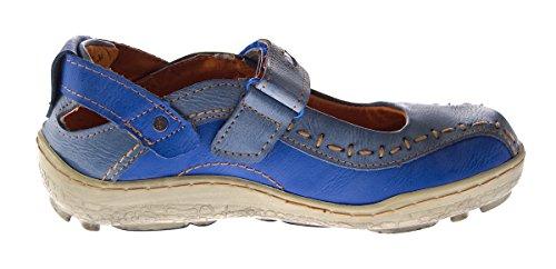 de azul Bailarinas TMA mujer Lisa para Piel Azul 05WFBWR