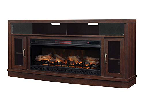 (Classic Flame Deerfield Cabinet Antique Brown Cherry & 42