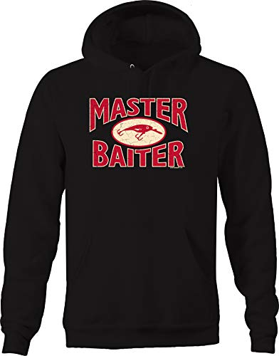 (Master Baiter Funny Adult Humor Fishing Fisherman Hooked Ocean Sweatshirt - 2XL)