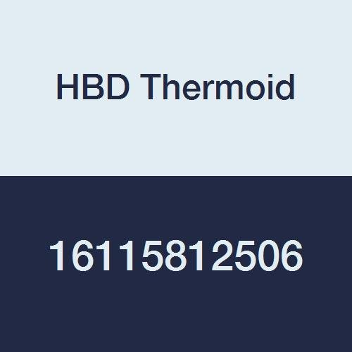 HBD Thermoid CR 1158 Softwall Aromatic Fuel SAE 30R2 Type 2 Hose, 400 PSI, 6' Length, 1-1/4'' ID, Black