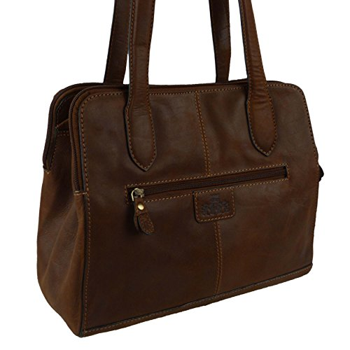 Rowallan of Scotland , Sac pour femme à porter à l'épaule Marron Cognac Tan Brown