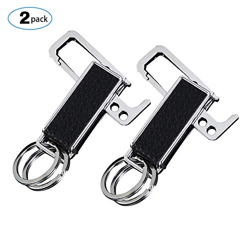- Pastall Keychain Key Ring Chain Holder Keyring with Bottle Opener for Car/Key Finder 2 Pack