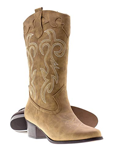 (Canyon Trails Women's Classic Embroidered Pointed Toe Western Rodeo Cowboy Boots (11 (M) US Women's,)