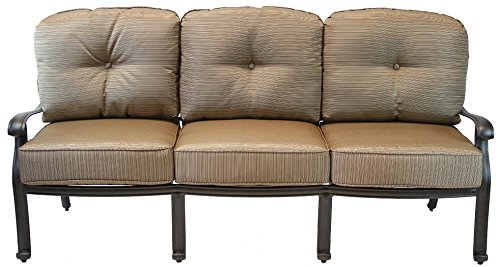 Heritage Outdoor Living Elisabeth Cast Aluminum Sofa - Antique -