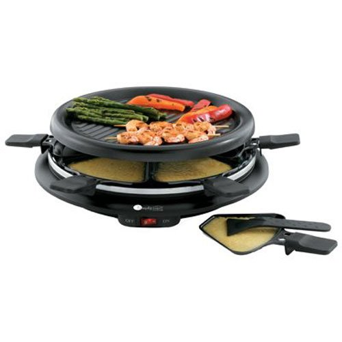 toastess tpg 315 6 person nonstick party grill and raclette. Black Bedroom Furniture Sets. Home Design Ideas