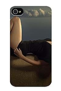 Ellent Design Brunees Women Clouds Megan Fox Actress Celebrity High Heels Black Dress Phone Case For Iphone 4/4s Premium Tpu Case For Thanksgiving Day's Gift Kimberly Kurzendoerfer