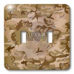 3dRose lsp_130690_2 Desert Gulf War Camouflage with Flag Font Army Double Toggle Switch