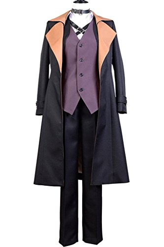[Costhat Adult Bungo Stray Dogs Nakahara Chuya Cosplay Costume with Hat] (Realistic Animatronic Dinosaur Costume)