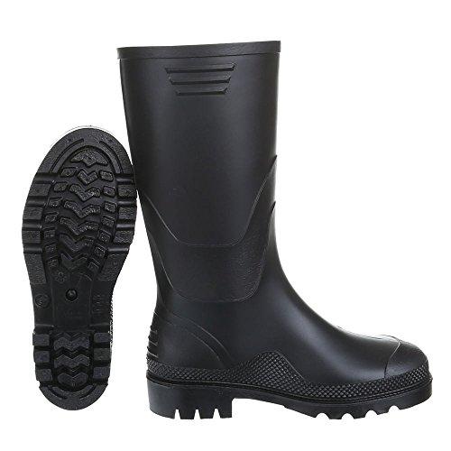 Ital-Design - Botas de Caucho para mujer Negro - Schwarz 20