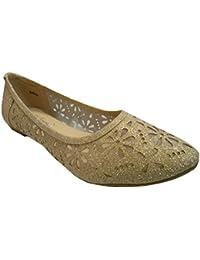 Danni Ballet Slip On Flat Dress Shoes Glitter WOMEN