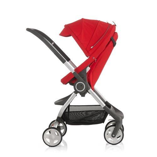 Stokke Scoot Traditional stroller 1seat(s) Rojo - Cochecito (Carrito tradicional, 1 Asiento(s), Rojo, Girar, 15 kg, 640 mm)