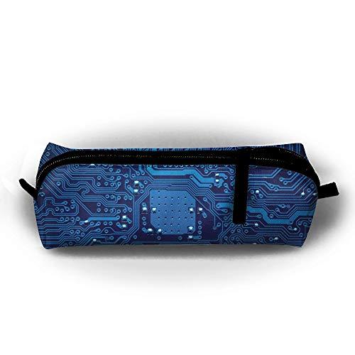 Kui Ju Pencil Bag Pen Case Circuit Figure Cosmetic Pouch Students Stationery Bag Zipper Organizer]()