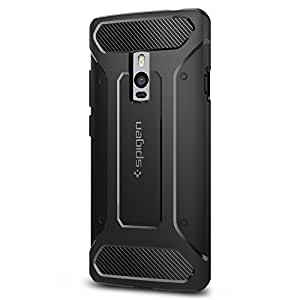 Spigen Rugged Armor OnePlus 2 Case with Resilient Shock Absorption and Carbon Fiber Design for OnePlus 2 - Black