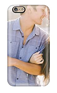 ZippyDoritEduard Scratch-free Phone Case For Iphone 6- Retail Packaging - Lovely Couple Watching Each Other Eyes Happily