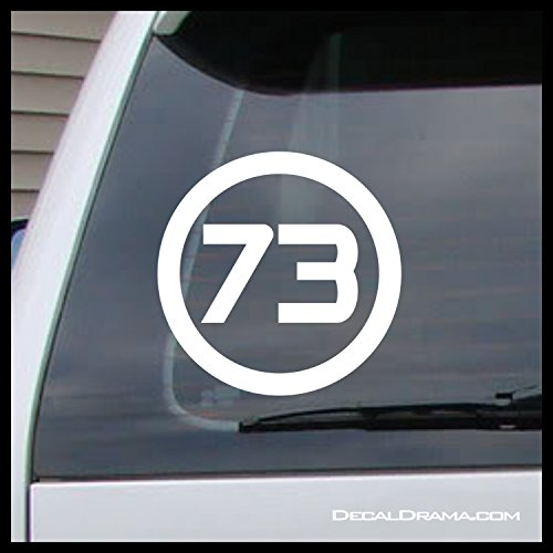 Best Number 73, Sheldon Cooper, The Big Bang Theory-inspired Fan Art Vinyl Car/Laptop Decal (Sheldon Cooper Best Number)