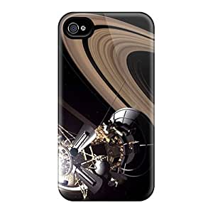Durable Defender Case For Iphone 4/4s Tpu Cover(satellite)