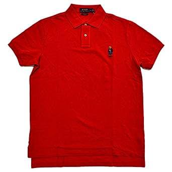 Polo Ralph Lauren Mens Custom Fit Bear Logo Polo Shirt