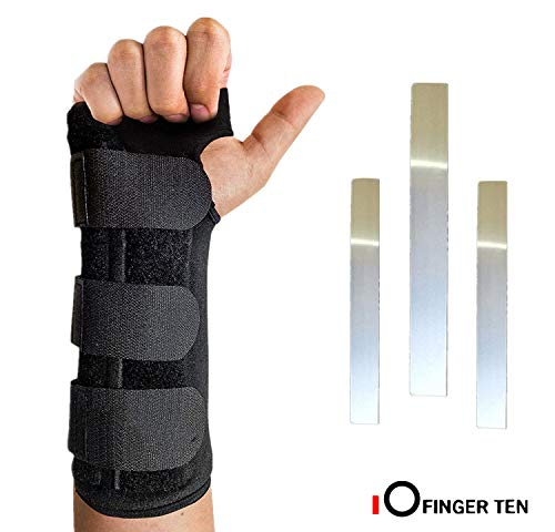 Wrist Brace Support Hand Left Right Carpal Tunnel Men Women Night Sleep Pack, Adjustable Strap for Arthritis Athletic Sprain, Elastic Exercise Bowling Drawing Mouse Keyboard Gym (Worn on Right Hand)