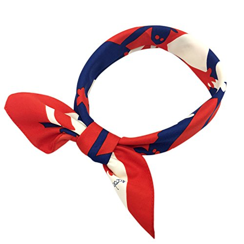 YOUR SMILE Silk Like Scarf Women's Fashion Pattern Large Square Satin Headscarf Headdress 24''x24'' (Pattern Silk Scarf)