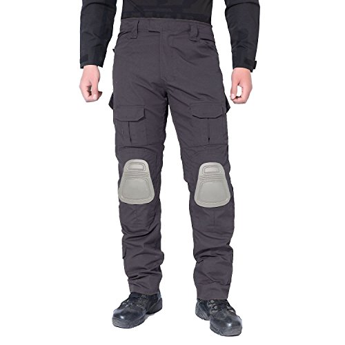 MAGCOMSEN Tactical Pants for Men Military Pants for Men with Knee Pads Uniform Army Pants BDU Pants Hiking Hunting Pants Grey (Grey Military Uniforms)