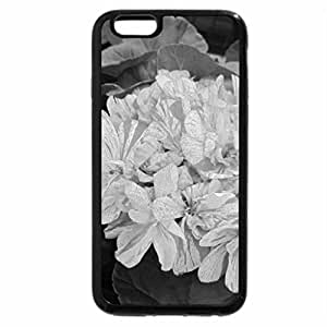 iPhone 6S Case, iPhone 6 Case (Black & White) - Flowers Geraniums pink
