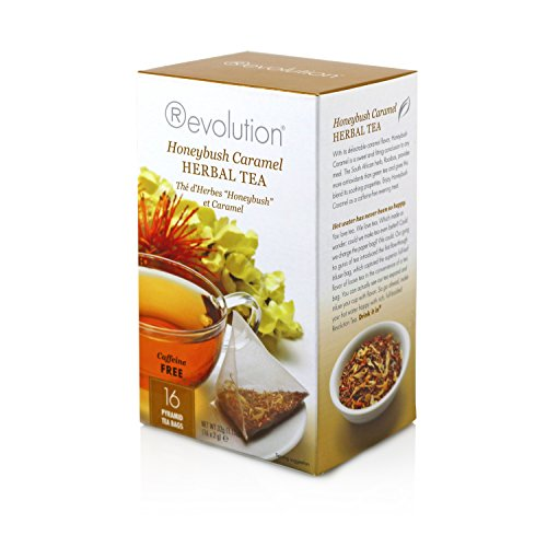 (Revolution Tea Honeybush Caramel Herbal Tea, 16 Count)