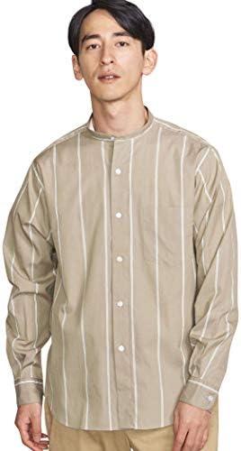 [ビューティ&ユース] BY 70 / 2 ブロードストライプ バンドカラーシャツ 12111977558 メンズ