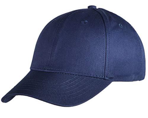 Beurlike Ponytail Baseball Cap High Bun Ponycap Adjustable Mesh Trucker Hats (Cotton - Navy -