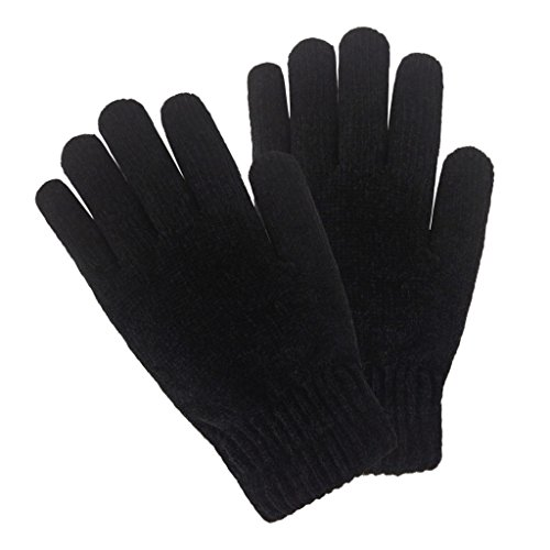 LETHMIK-Mens-Winter-Thick-Black-Knit-Gloves-with-Warm-Wool-Lining