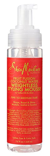 Shea Moisture Fruit Fusion Coconut Water Weightless Styling Mousse, 8 Ounce