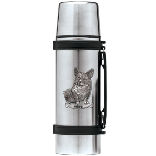 Heritage Metalworks THS4190 1 ltr Stainless Steel Corgi Thermos B072FVLMXK