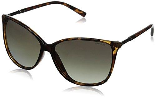 Polaroid Sunglasses Women's PLD4005S Polarized Square Sunglasses, Havana & Green Gradient Polarized, 59 - Polaroid 59