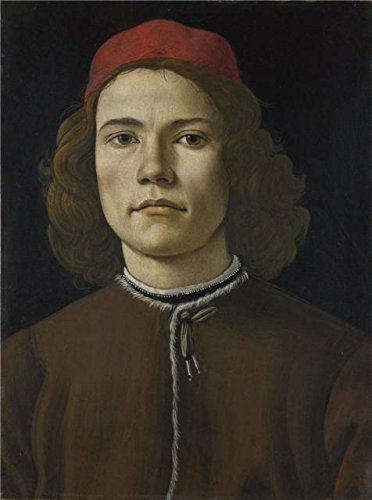 The High Quality Polyster Canvas Of Oil Painting 'Sandro Botticelli-Portrait Of A Young Man,1480-5' ,size: 8x11 Inch / 20x27 Cm ,this Best Price Art Decorative Prints On Canvas Is Fit For Study Decor And Home Artwork And Gifts (Iron Art Dummy Strap)