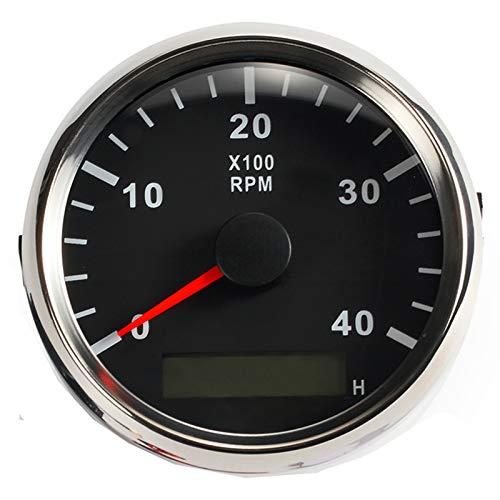 9-32/V Tac/ómetro universal RPM Contador de revoluciones con contador de horas 4000 RPM con retroiluminaci/ón 85/mm