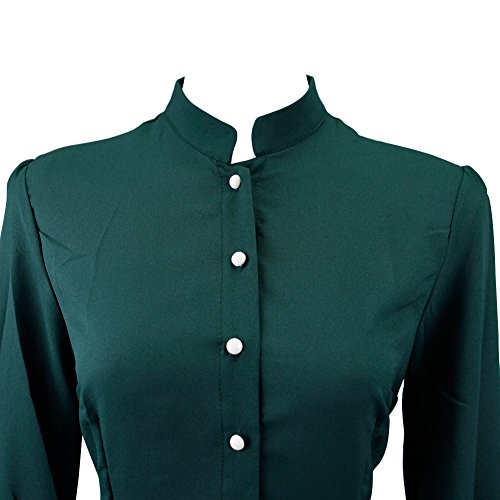 Andy's Share Vintage Cocktail Langarm Maxi Lang Kleid für Damen