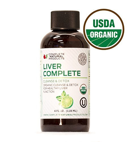 Liver Complete 4oz - Organic Natural Liquid Cleanse & Detox Supplement for Fatty Liver, Gallbladder, and Kidneys (Organic Liver)
