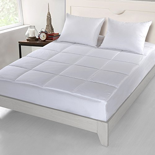 Cottonloft Cottonlux 500 Thread Count Cotton Mattress Pad, Queen, (100% Cotton Mattress Pad)