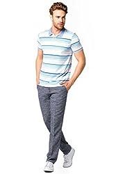 DeFacto Men's Striped Polo T-Shirt XXL Lapis-289-13