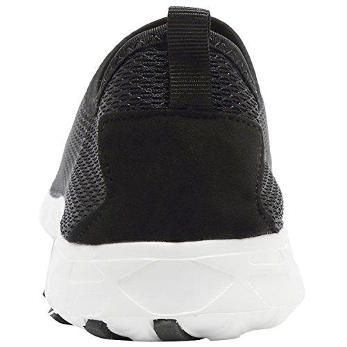 Sport Sneakers Water Black06 Lightweight Quick Fanture Shoes Slip on Women Mesh Aqua Athletic Drying Casual OanpAP