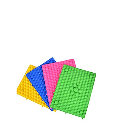 4PCS Kewang Foot Massage Toe Mat Health Care Acupuncture Shiatsu Circulation Reflexology -4 PCS(Yellow/Blue/Pink/Green)-