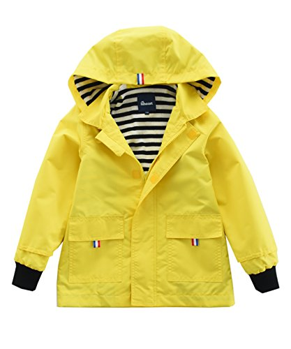 Hiheart-Boys-Girls-Waterproof-Hooded-Jackets-Cotton-Lined-Rain-Jackets