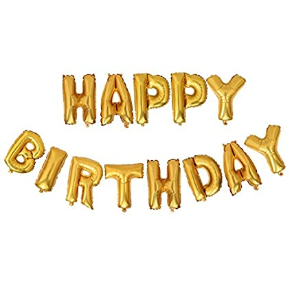 mcolour balloon birthday party 16 inch cute happy birthday letters foil balloons gold birthday letter