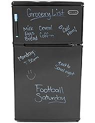 Premium Mini Fridge Appliances with Freezer Top Compact Small Apartment Size Refrigerator in Black 2 Door Design