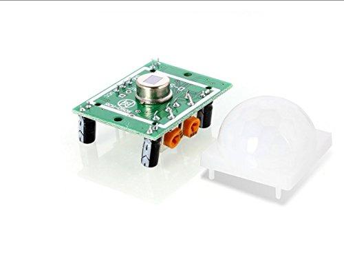 HaoYiShang HC-SR501 cuerpo humano piroeléctrico sensor de movimiento detector Módulo para Arduino: Amazon.es: Bricolaje y herramientas