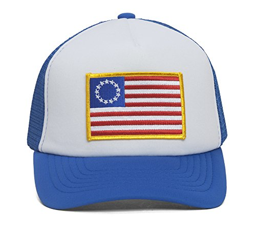 United States Original 13 Colonies Royal/White Trucker Hat