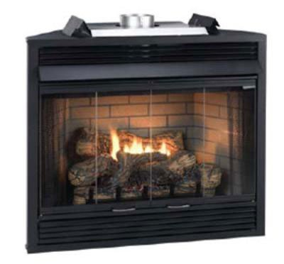 Deluxe MV 34 inch Flush Face B-Vent Fireplace - Natural Gas (Gas Flush)